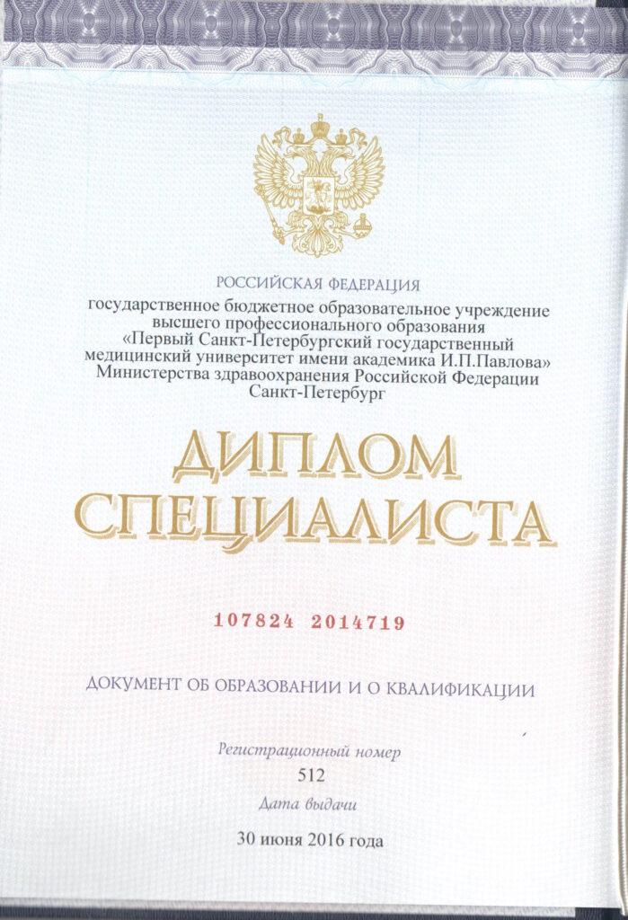 Диплом Кулиев Эльмир